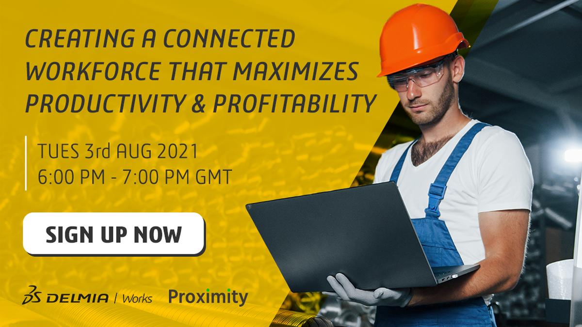 DELMIA-Works-Webinar-connected-workforce-productivity-profitability-Graphic